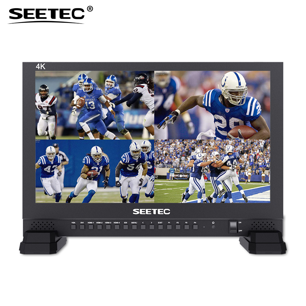 Seetec 4K173-9HSD-384 17.3 Inch IPS UHD 3840x2160 4K Broadcast Monitor with 3G-SDI HDMIx4 Quad Split Display 17.3 LCD Monitor buy uhd monitor