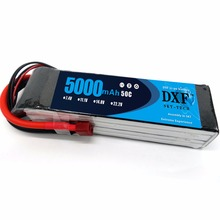 DXF 4S 14.8V 5000mAh 50C Lipo Battery  for RC Quadcopter Airplane Car Truck Boat Hobby(1554832mm)
