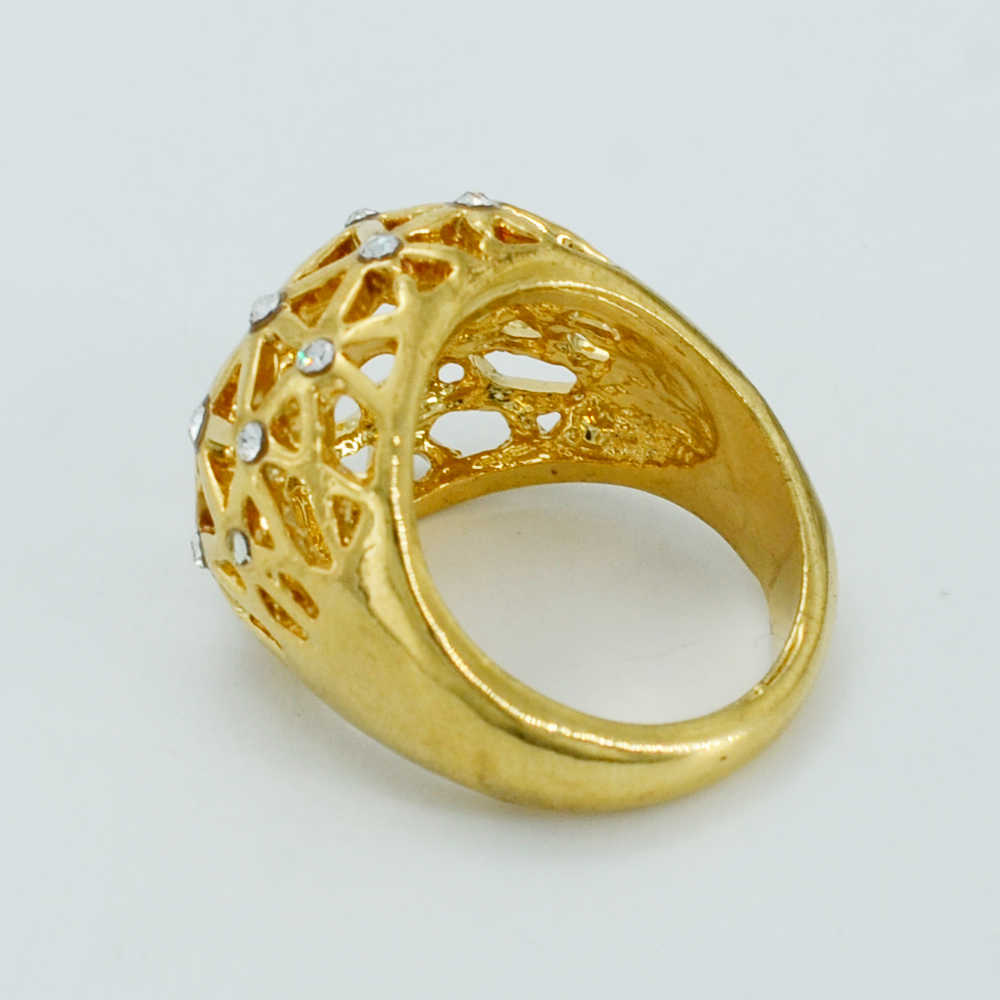 Anniyo Rhinestone แหวนทองสีหินเครื่องประดับแอฟริกันเอธิโอเปียอาหรับเครื่องประดับ #023906