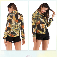 Fashion Printed Chiffon Shirt Single-breasted Long-sleeved Women Clothes