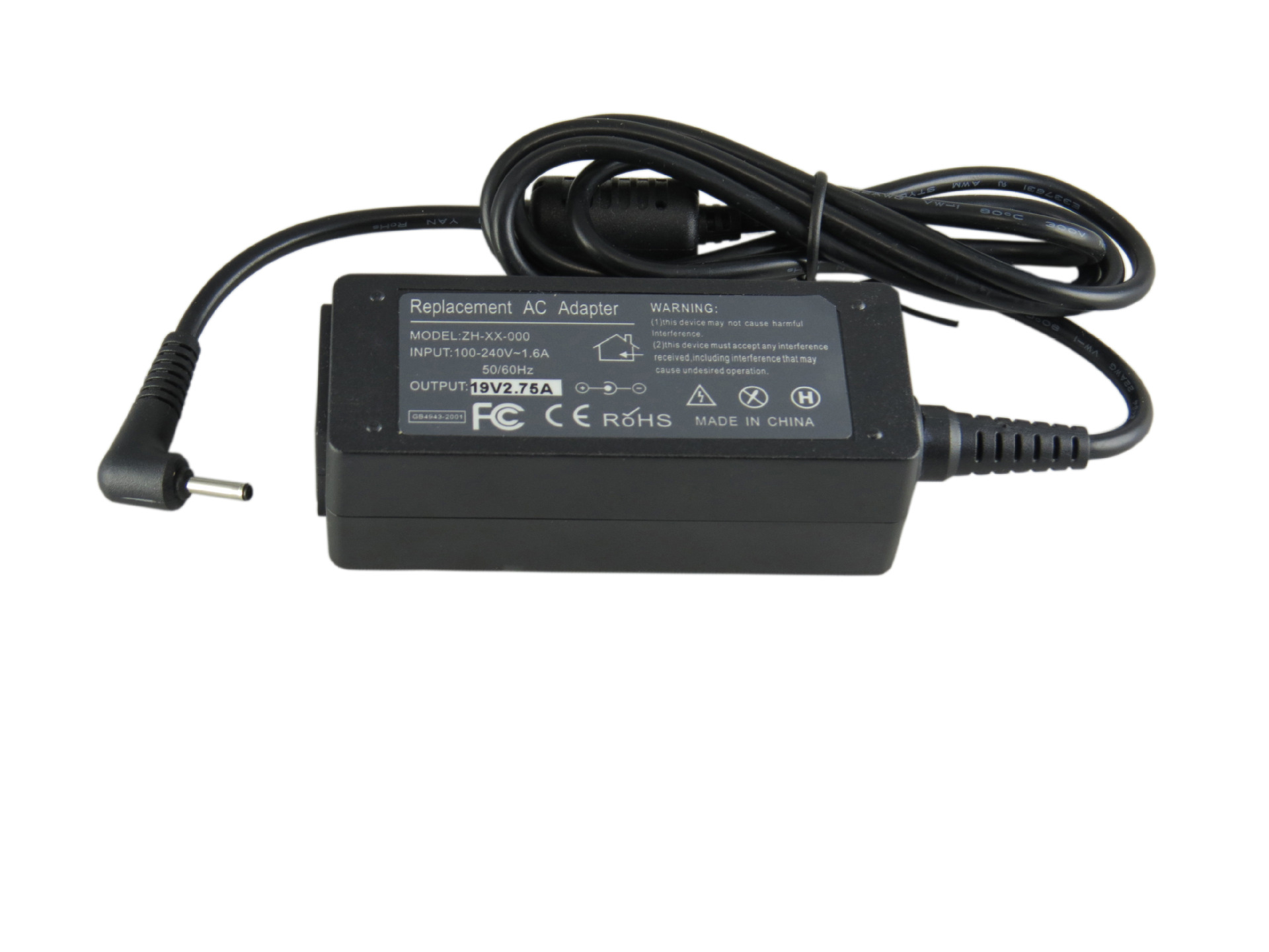 Caricabatteria 19V 2.1A 40W AC Laptop Power Adapter per ASUS Eee PC 1001HA 1001P 1001PX 1005HA 1101HA 1008HA 2.5mm * 0.7mm