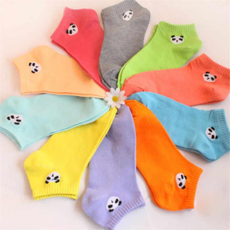 Heißer Verkauf Mode Schöne Baumwolle Frauen socken Campus original stil candy farben Tiere Panda Frühling Herbst Socken