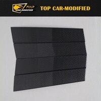 For Porsche Panamera Carbon Fiber B Pillar Window Trim Covers 4PCS