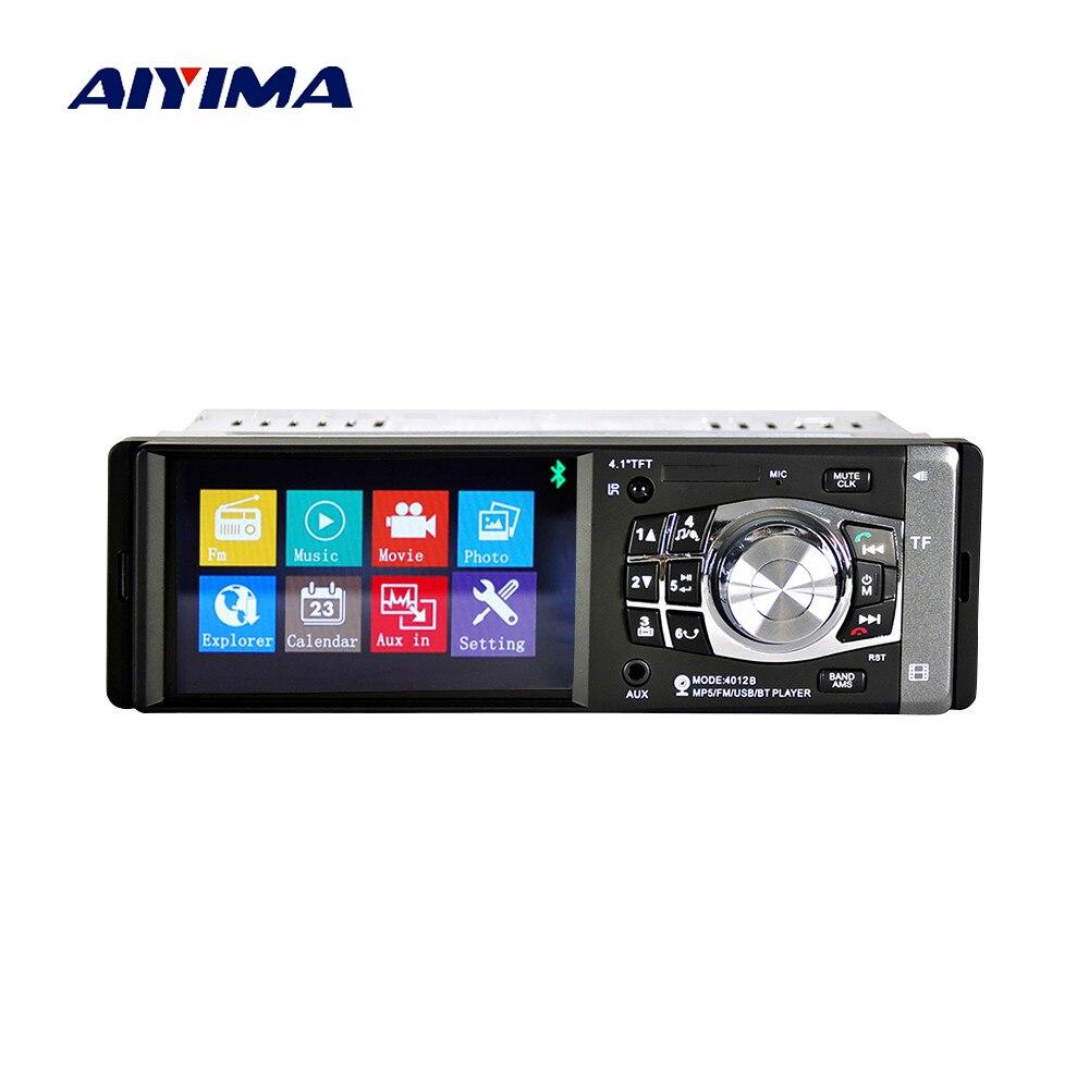 Aufrichtig Aiyima 4,1 Zoll Bluetooth Auto Mp4 Player Audio Video Usb Tf Aux Auto Fm Freisprechen Musik Player Tft Bildschirm Attraktive Designs; Unterhaltungselektronik
