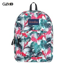 Ou Mo brand ins Flamingo laptop backpack Women schoolbag waterproof school Bag teenagers man computer feminina Backpack