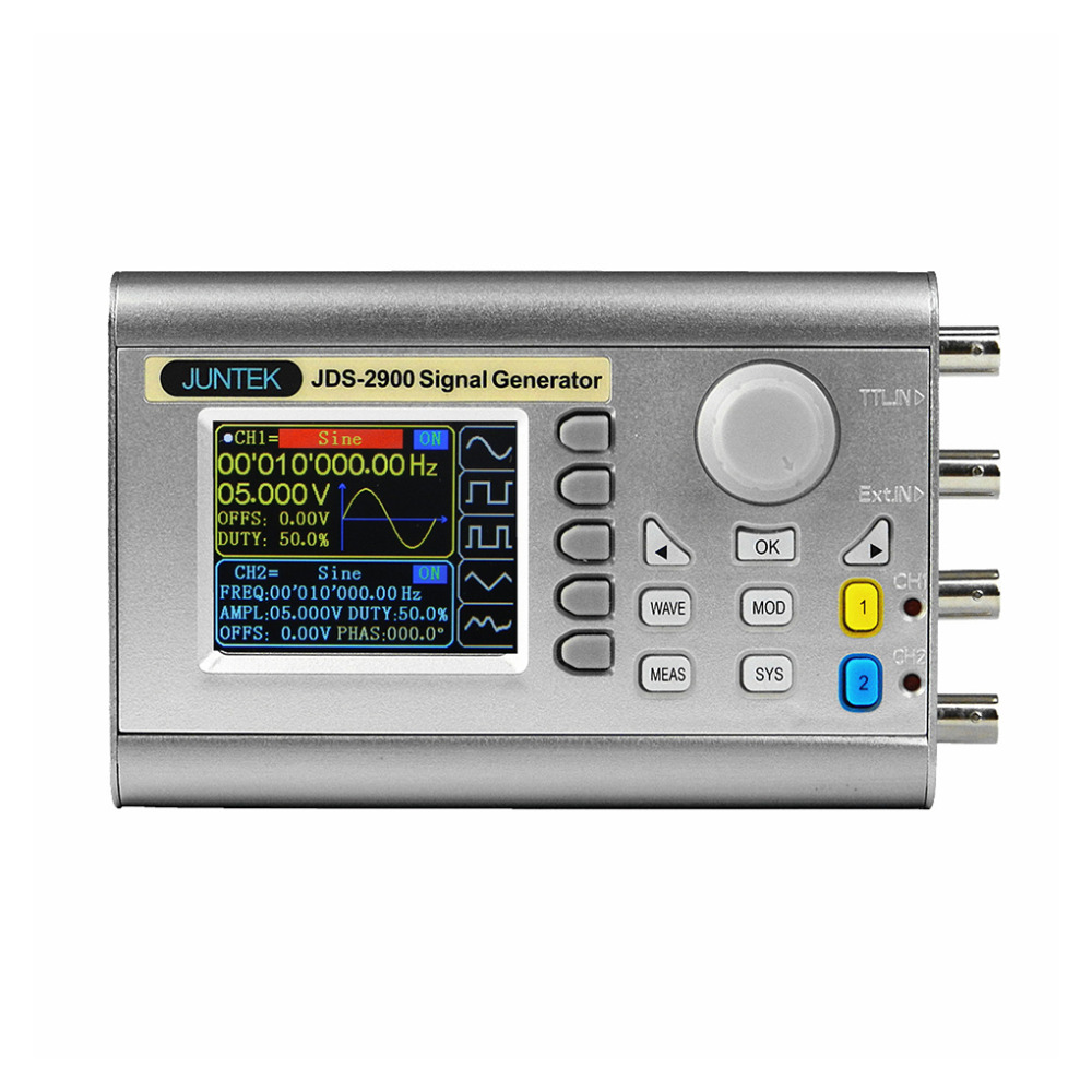 JUNTEK TFT Color LCD DDS Signal Generator Counter Arbitray Waveform Generator Pulse Signal Frequency Meter