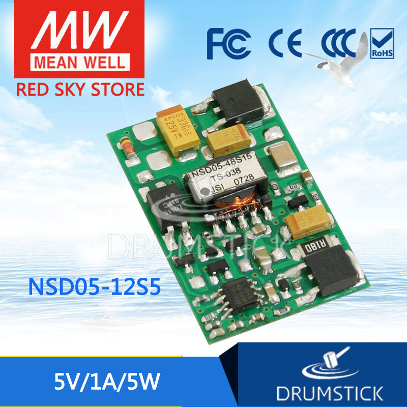 цена на Selling Hot MEAN WELL NSD05-12S5 5V 1A meanwell NSD05 5V 5W DC-DC Regulated Single Output Converter