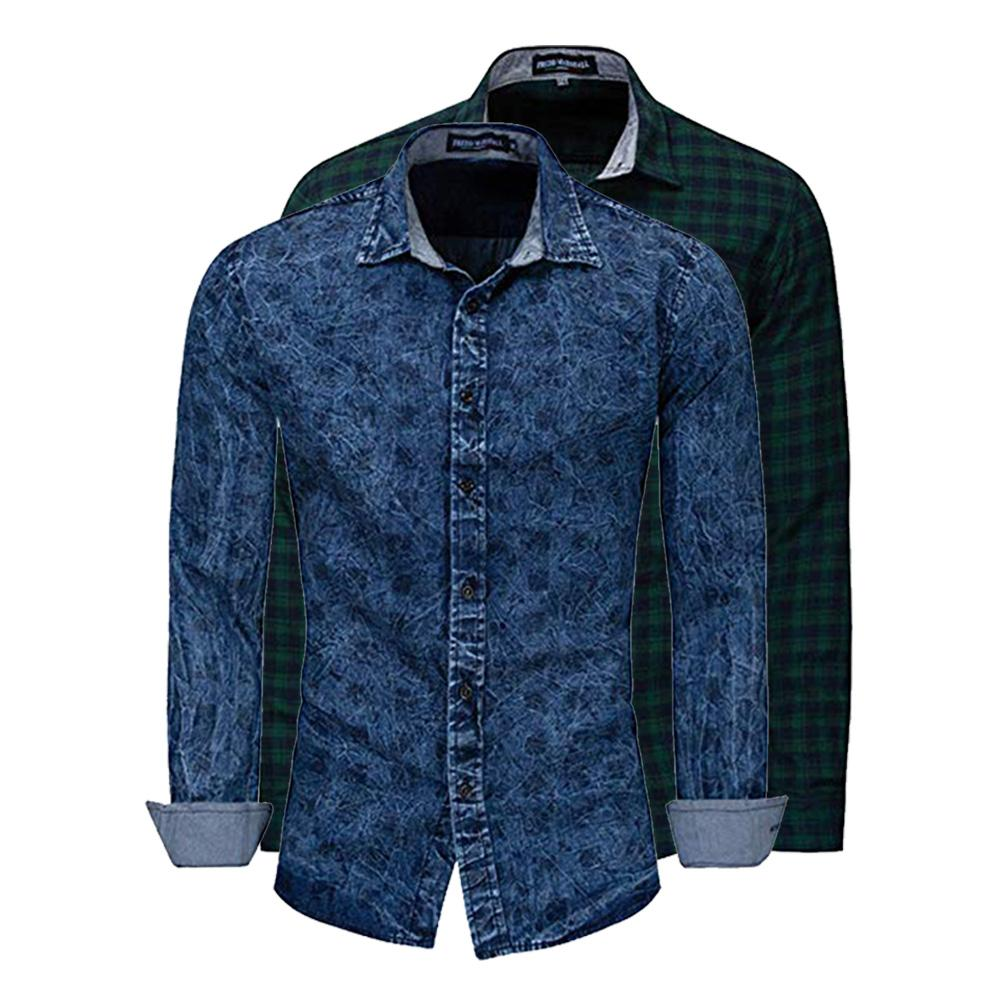 Man Clothes On Sale Plaid Shirt Long-Sleeved Cotton Casual 3 Design Man Workout Clothes Soft