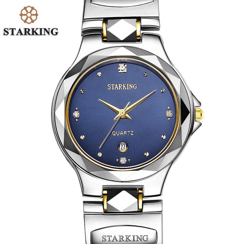 STARKING Men Relogio Tungsten Steel Watch Relojes Hombre Top Brand Swiss Movement Quartz Men Casual Business Analog Watch 3ATM