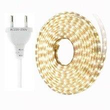 SMD 5050 LED Strip IP67 Waterproof ledstrip 220V flexible light 60 leds/m with EU plug 1m 2m 3m 5m 10m 15m 20m 25m IL