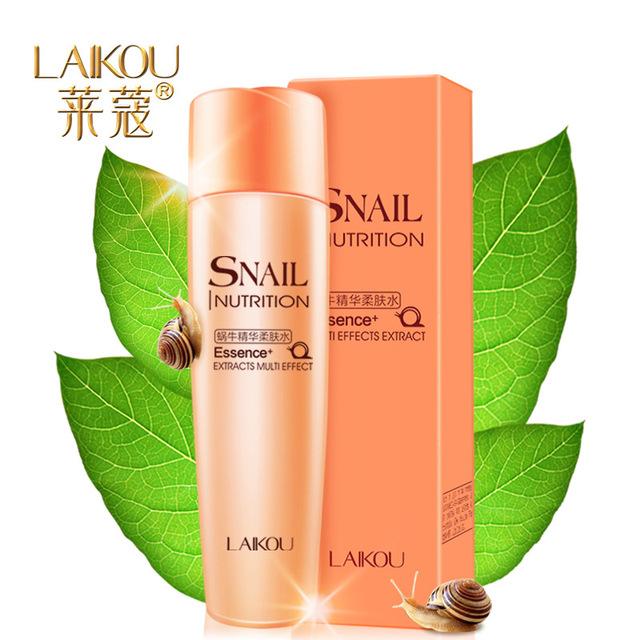 Lai Kou caracol extrato ingredientes naturais hidratante anti-rugas endurecimento Toner umidade para acne Índia