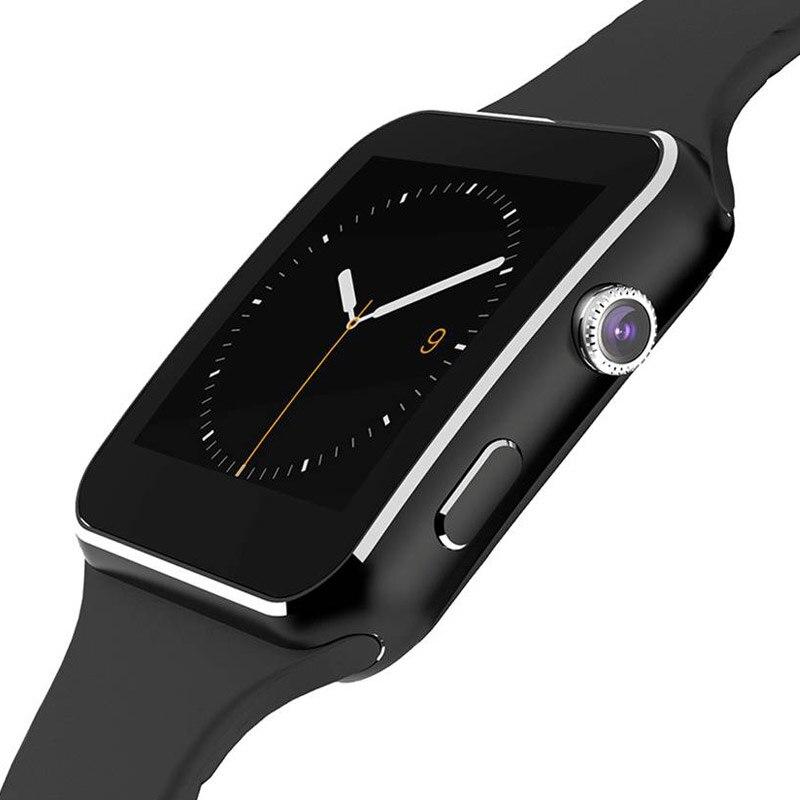 2018 Sport Smart Montres Pour Hommes Femmes Bracelet Bracelet de Course Bluetooth Caméra Tél Tactile de Remise En Forme Intelligente Montre-Bracelet X6 Horloge