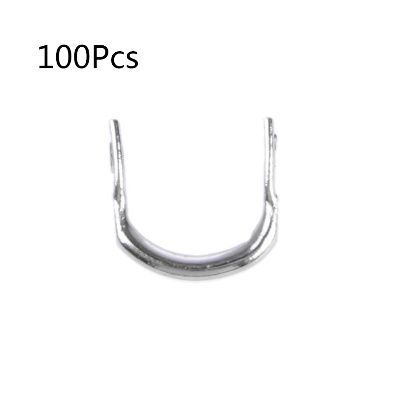 100pcs Fishing U Shaped Ring Baits Lure Tool Stainless Steel Accessories Tackle