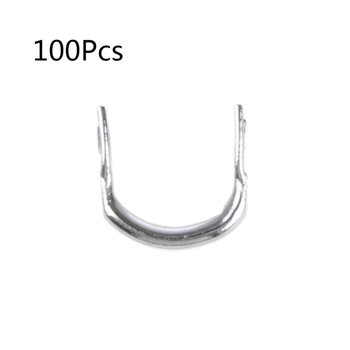 100pcs Fishing U Shaped Ring Baits Lure Tool Stainless Steel Accessories Tackle - discount item  21% OFF Fishing