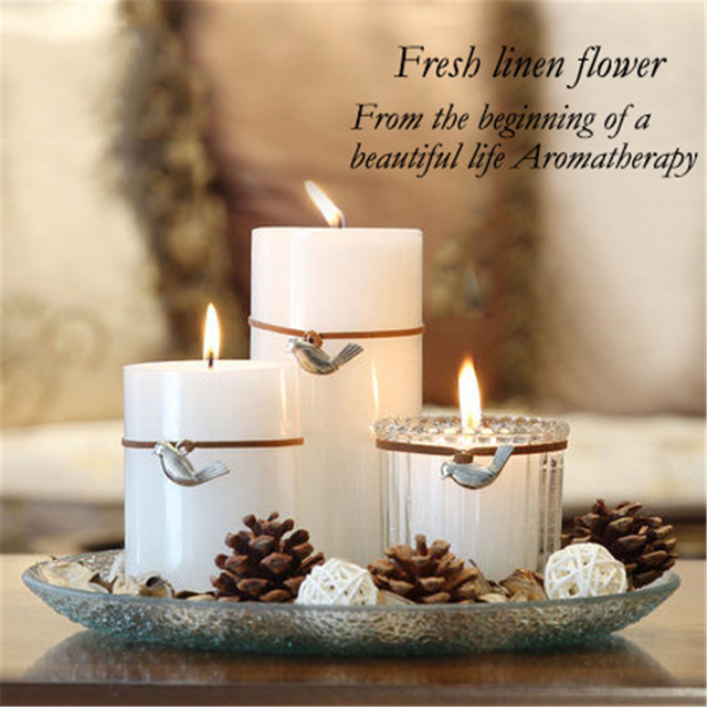 Gift Candles Aromatherapy Blanche Bougies Mariage Velas Scented Candle Yankee Decorative Wedding Decoration Pillar Qqz17