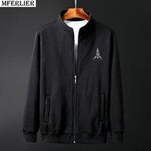119afc68c5e6f Hommes casual Sweat zipper polaire grande taille grand 6XL 7XL 8XL 9XL 10XL  automne hiver Sweats à capuche simple coton noir