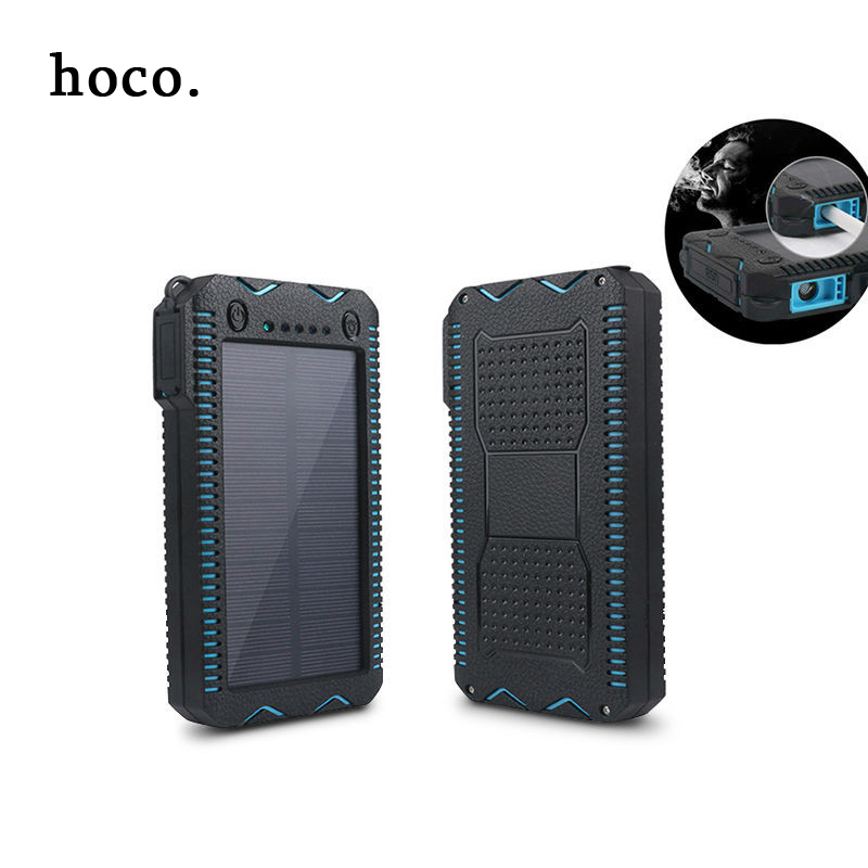 imágenes para Hoco CALIENTE 12000 mAh Banco de la Energía Solar de Doble Enchufe USB Cargador de Batería Externo Portable para el Teléfono Del Teléfono Envío Rápido