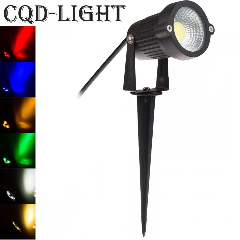 Yellow Outdoor Led Light Bulbs: Lawn Lamp Light Waterproof COB Outdoor Garden Lighting