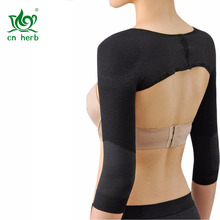 CN Herb  Womens Long Sleeve Shaper Slimmer Arm Shapers Back Shoulder Support Wrap Correct Posture Corrector Humpback Prevent