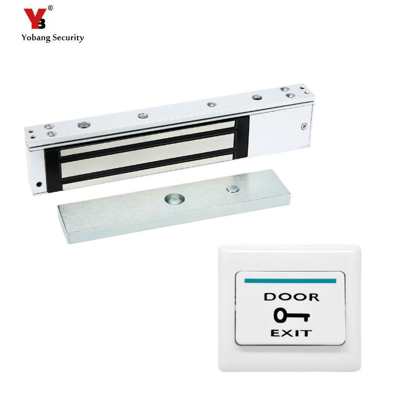 Yobang Security Access Control Electric Magnetic Door Lock 12V Electric Lock Holding Force High Quality Video Doorphone Intercom new arrival 1000 kg 2200lb holding force electric shear magnetic lock for access control or intercom system