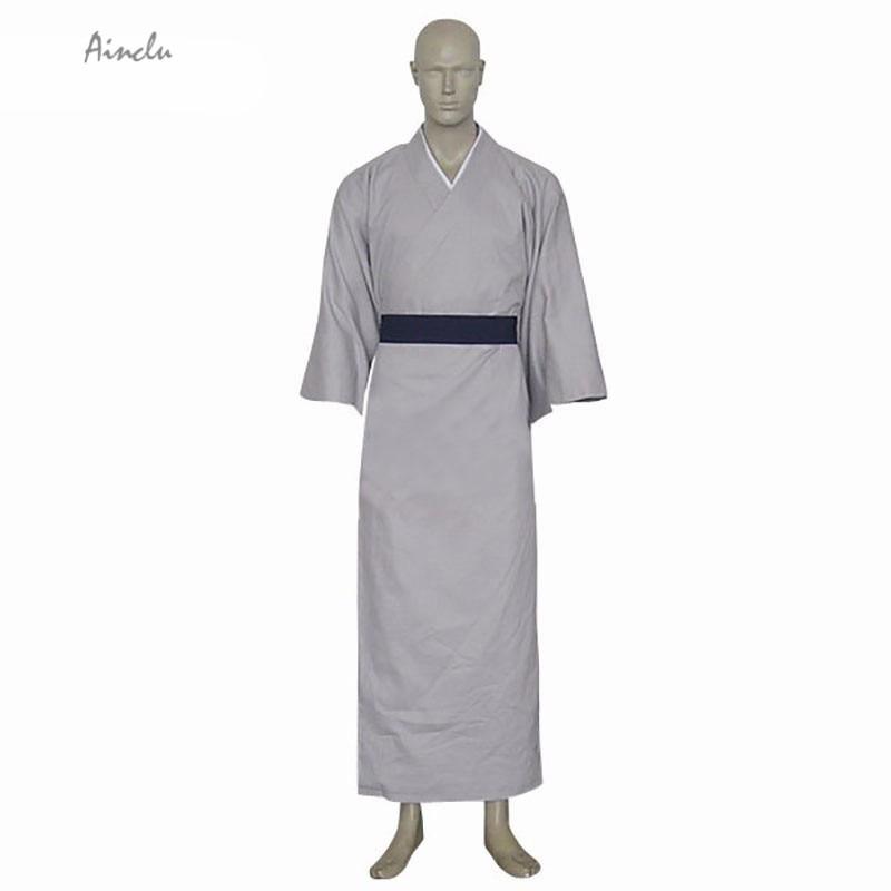 Ainclu Free Shipping New Gray Fruits Basket Shigure Sohma Sash Kimono Cosplay Manga Brand Costumes