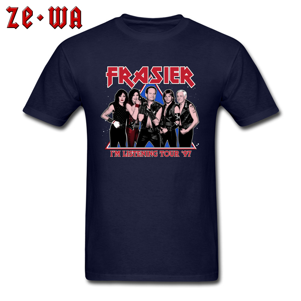 90s TV T-shirt 2019 Funny Men Tshirt FRASIER I'M LISTENING TOUR 97 American Sitcom Tops Groups Tees Cotton T Shirt Rock You!