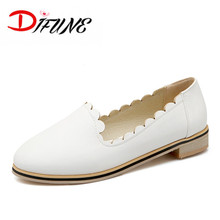 Free Shipping 2016 Women's shoes personality Pink white shoes round toe basic style flat comfortable  shoes LArge size 32-43