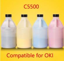 Free Shipping Compatible for OKI c5500 / 5500 Chemical Color Toner Powder Refill toner cartridge  printer color powder 4KG