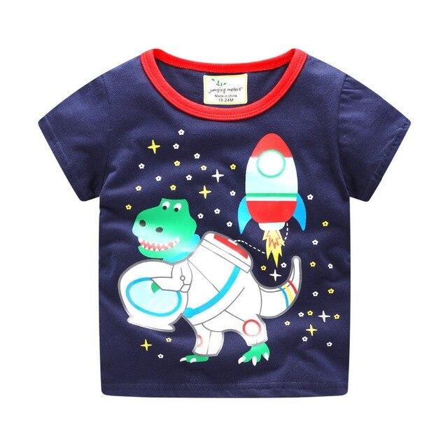 brand 2018 new fashion kids clothing 100%cotton blouse childrens clothes baby boy t shirts boy's top tee cartoon car Dinosaur
