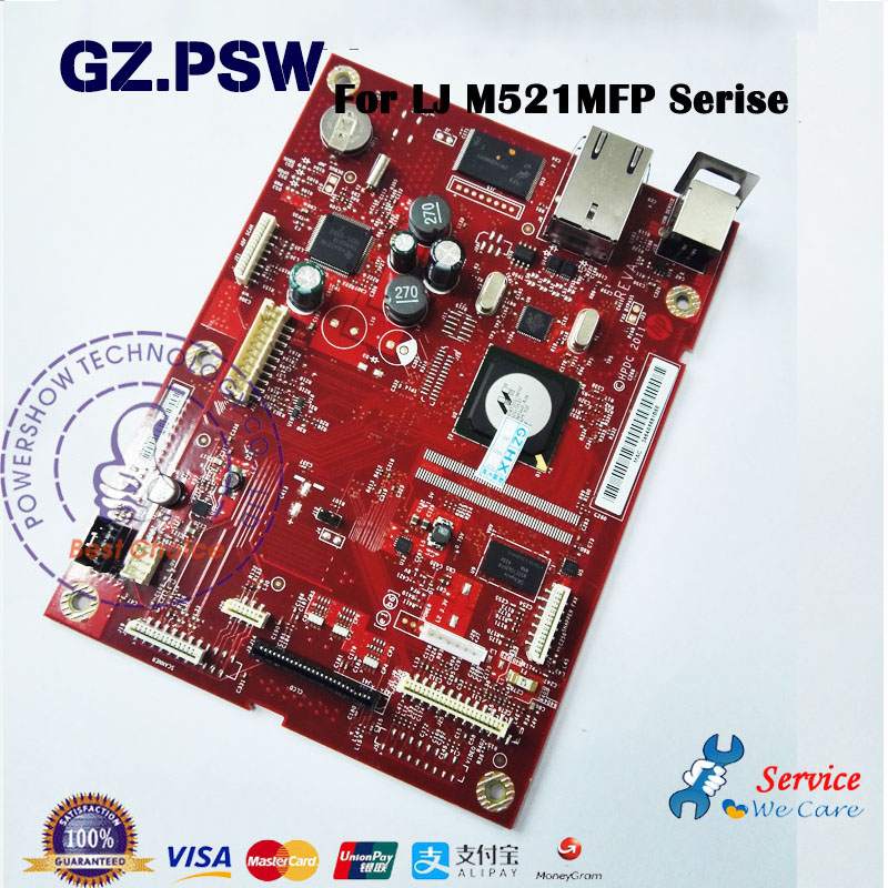 Original New Formatter Board Mainboard Logic Board A8P80 60001 For HP M521 Laserjet Pro MFP M521DN M521 M521DW-in Printer Parts from Computer & Office    1