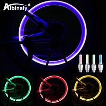 Luz LED impermeable para bicicleta, válvula de neumático, luz para bicicleta, radios deportivos, luz de advertencia de seguridad, luz de rueda de bicicleta al aire libre, accesorios
