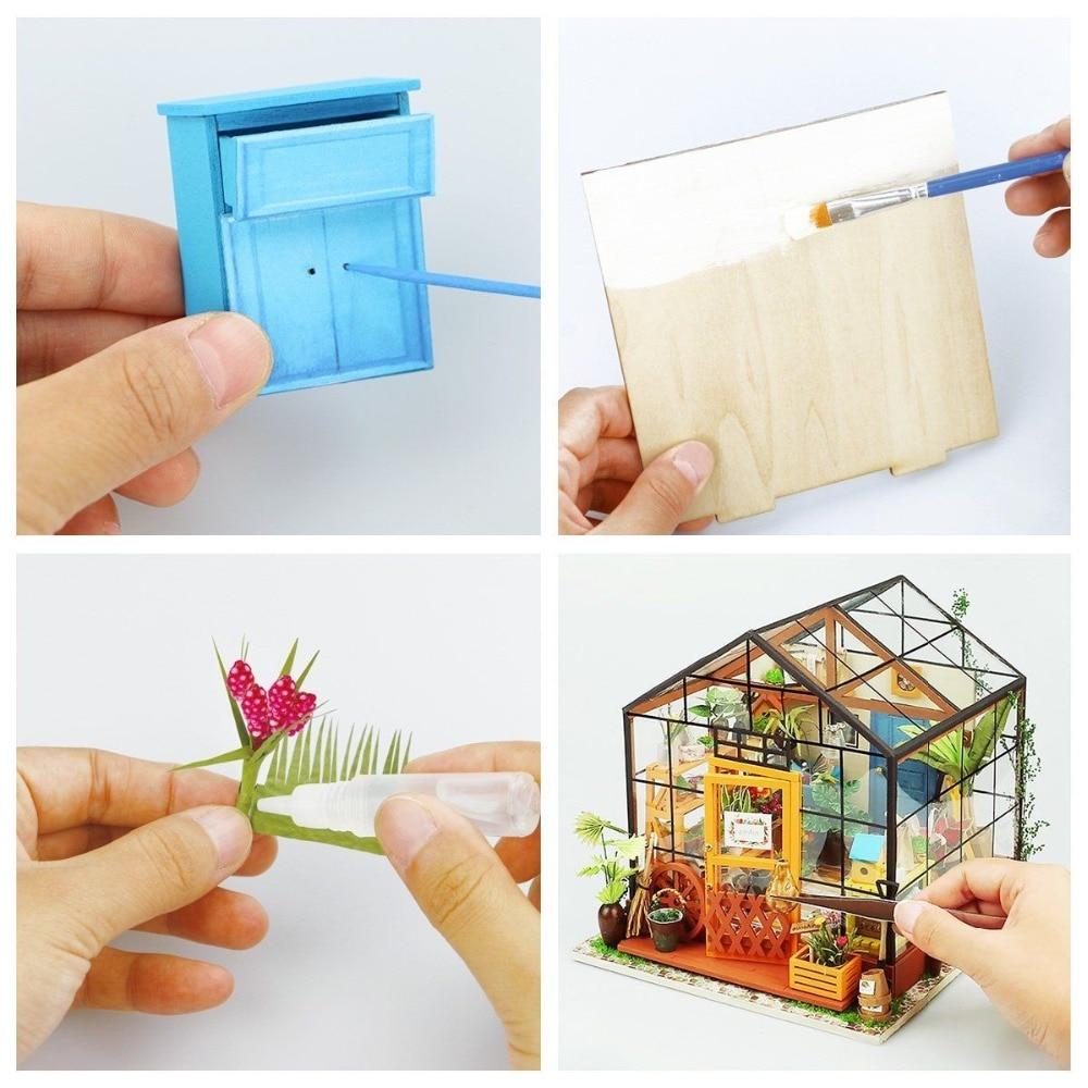 Robud Niños Adultos DIY Miniatura Kathy Flower Casa de Muñecas de - Muñecas y accesorios - foto 6
