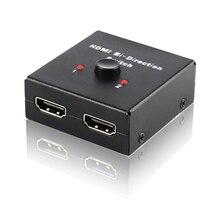 2-Port HDMI Bi-directional Switcher Splitter 2×1 Switch Switcher or 1×2 Splitter Selector 3D 1.4V 4K HDCP