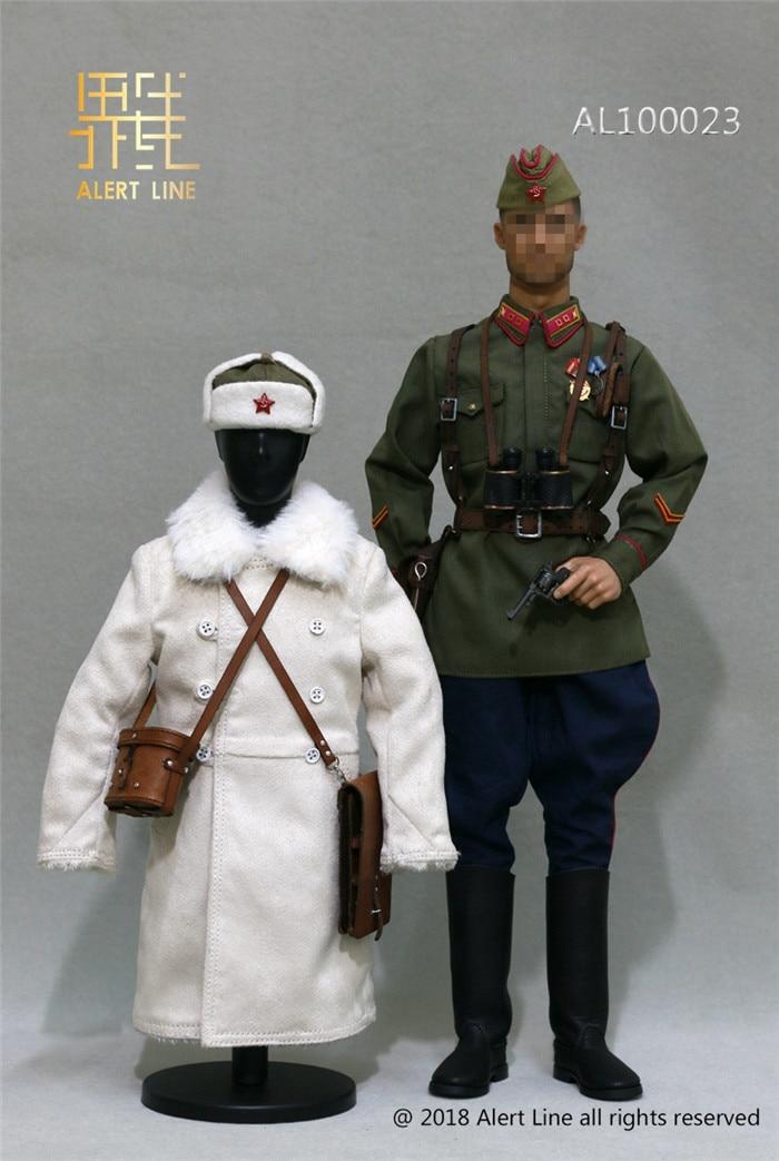 AL100023 1/6 WW2 1942Red Oficial de Infantaria Do Exército Tenente Definido Para 12