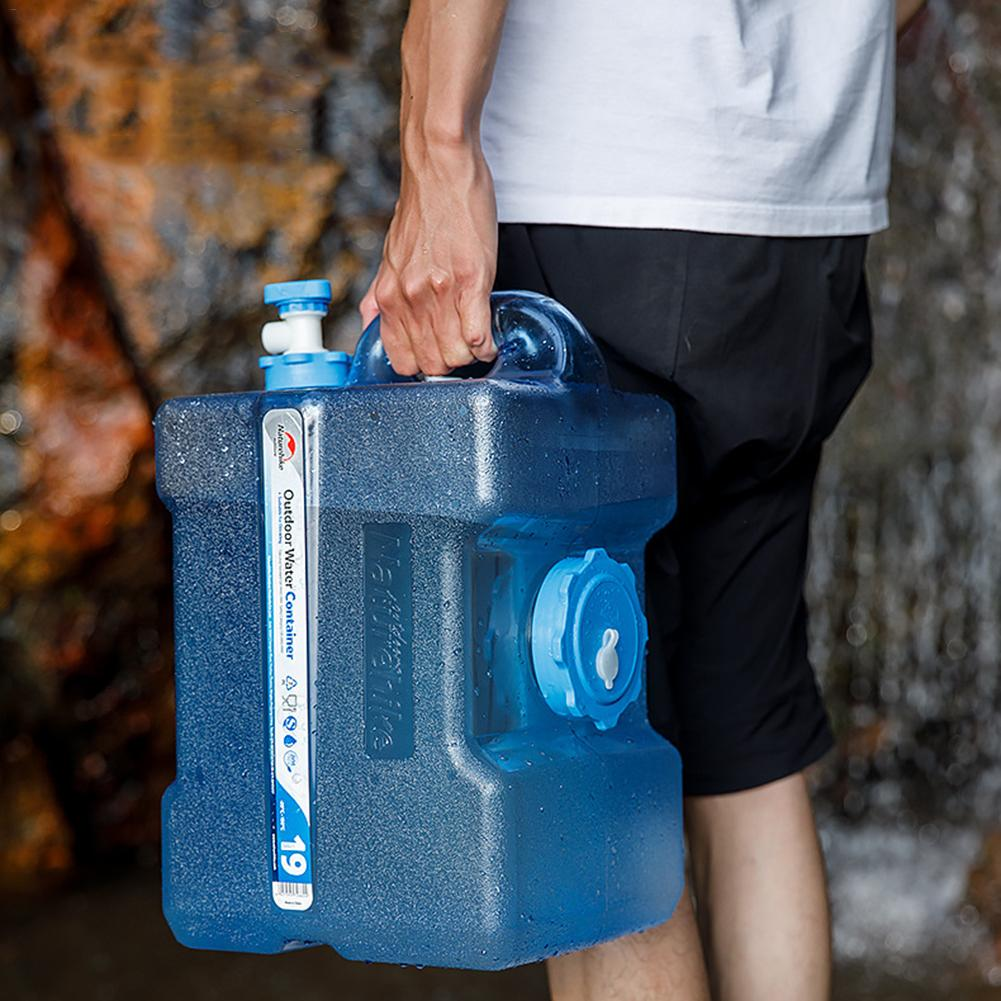 Portable Outdoor 12L 19L 24L Large Capacity Water Container Water <font><b>Tank</b></font> Bucket Camping Picnic Driving Kettle With Faucet image