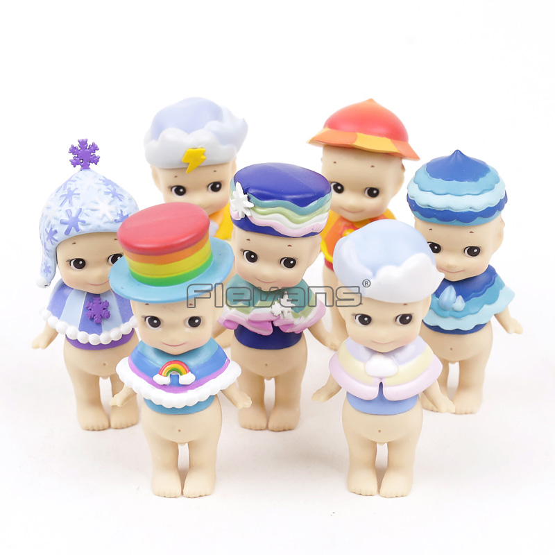 2017 Dreams Sonny Angel Mini PVC Figures Sky Color Series Limited 7-pack - Sunny Rainbow Snowy Rainy And More2017 Dreams Sonny Angel Mini PVC Figures Sky Color Series Limited 7-pack - Sunny Rainbow Snowy Rainy And More