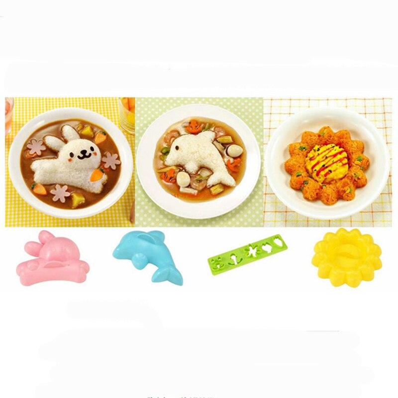 6/pcs//lot de dessin anim/é mignon des /œufs durs Sushi Riz Moule Moule Pan cuisson outils de bricolage de cuisine Bento Accessoires pour enfants