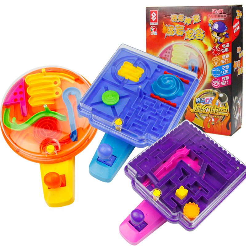 Puzzle Ball Maze 3D Crystal Puzzle Game Fun Toy Hot Roco 3D Maze Toys For Children Educational Toys Montessori Brain Teaser ball finding game ru bun lock children puzzle toy building blocks