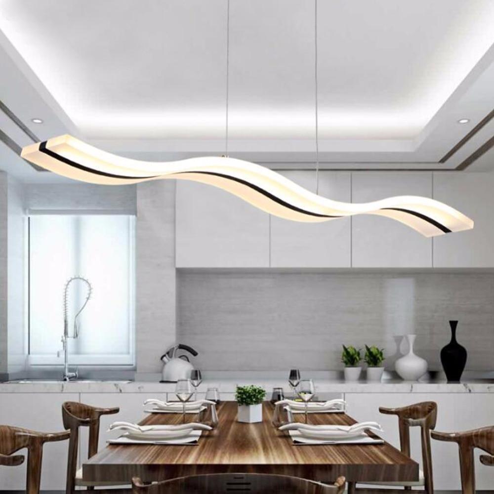 Moderne pendelleuchten wohnküche dinging raum leuchten led hängelampe leuchten dimmbar mit control ac90 260v