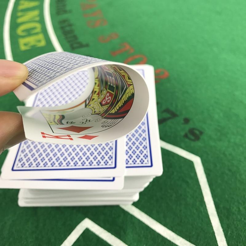 2 rinkiniai / partija Baccarat Texas Hold'em plastikinių kortelių - Pramogos - Nuotrauka 5