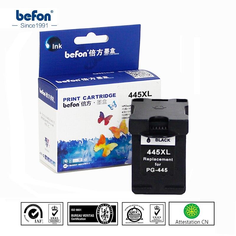 Befon Kompatibel 445XL Schwarz Tintenpatrone Ersatz für Canon PG-445 PG445 PG 445 für ip2840 2840 MG2440 MG2540 2940 mx494
