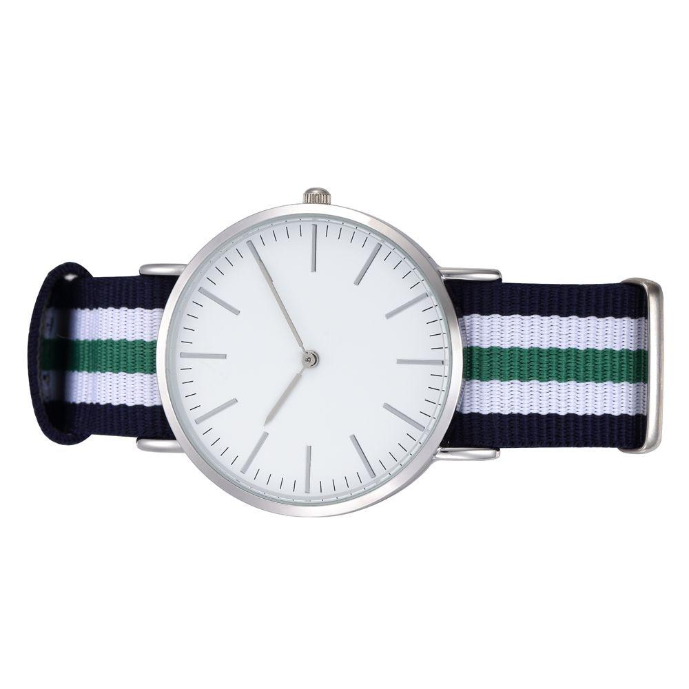 Latest Unisex Watch Men Relojes Women Quartz Movement Thin Case Zulu Navy Wristwatch Bands