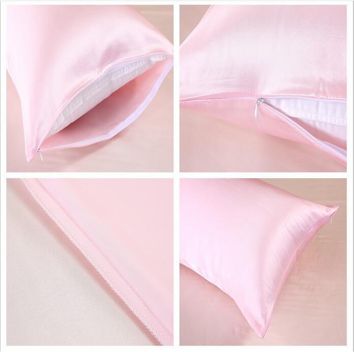 Fyjafon 100% Pure Mulberry Silk Pillowcase Both sides 19momme Pillowcase Zipper Closure