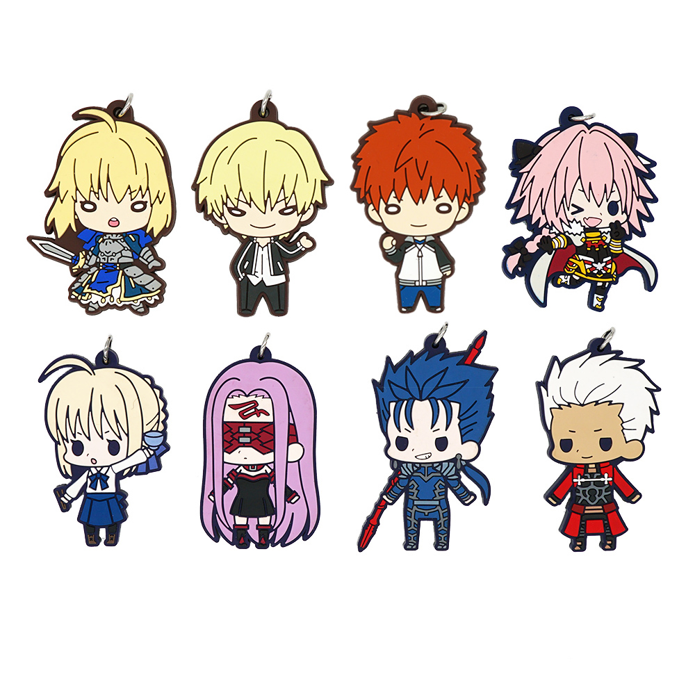Fate Stay Night Heaven/'s Feel Anime Rubber Strap Charm Keychain Saber Archer Gil