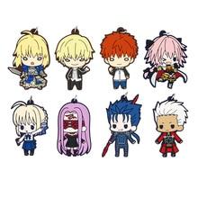 Fate/Grand Order Anime Strap Fate Stay Night Saber Emiya Shirou Cu Chulainn Astolfo Gilgamesh Medusa Rubber Keychain