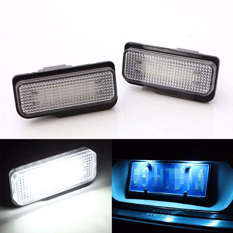 2PCS 18LED License Plate Light For 2001-2011 4 Doors Mercedes/Benz C-Class S203 E-Class S211/W211 00-07 SLK R171 CLS C219 for mercedes benz slk r171 2004 2011 led car license plate light number frame lamp high quality led lights