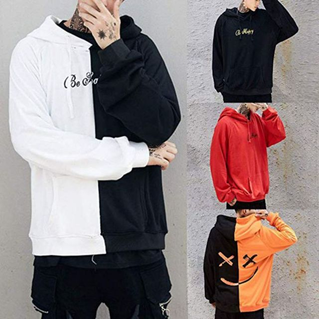 New Autumn Cool Hoodies Men 2018 Fashion Plus Size Hip-Hop Warm Face Printing Sweatshirt Male Brand Boy Hooded Top Coat