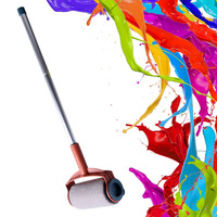 Decorative Paint Roller Painting Brush Household Wall Tool Sets For DIY Multifunctional Accessories Extended Tube Cup