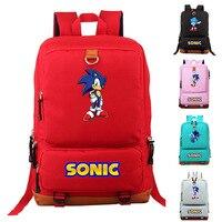 Anime Sonic The Hedgehog Backpack Cosplay Cartoon Shoulders Travel Laptop Bags Kids Teens School Bags Bookbag Gift