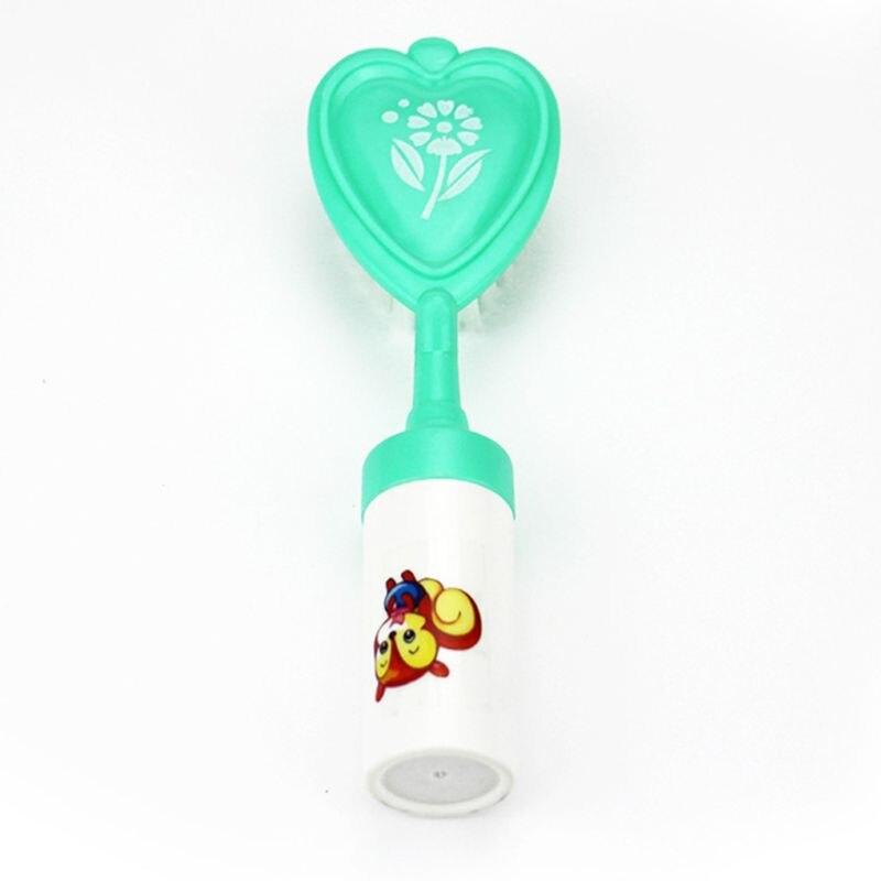 Diskret Baby Produkte Shampoo Pinsel Eingebaute Glocke Neue Nette Herz Form Rassel Kamm Set Gehirn Pädagogisches Spielzeug